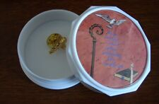and Holy Spirit Trinket Box Miniature Gold Toned Guardian Angel Pin
