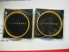 2 XXL LIVESTRONG TDF Yellow Bracelet BAND Wristband LAF