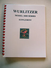 Wurlitzer Model 3000 Supplement Jukebox Manual