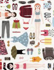 PAPER DOLLS Fabric Fat Quarter Cotton Craft Quilting Dress Up DIVA GAIL - Girls