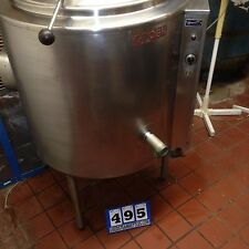 "GROEN HH40 40 GAL STEAM KETTLE NAT GAS 1.5"" VALVE  BEER CHILI PASTA STOCK (#495)"