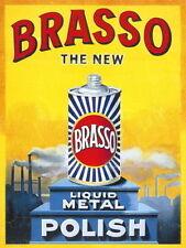BRASSO metallo lucido vecchio vintage pubblicità da cucina garage novità