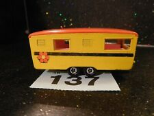 Matchbox Superfast Trailer Caravan No 57 1970 Yellow (137)