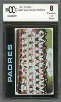 San Diego Padres Tc Team Card 1971 Topps #482 BGS BCCG 8