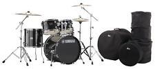 Yamaha Rydeen RDP0F5 Black Glitter Schlagzeug Hardware Paiste Becken Set Gigbags