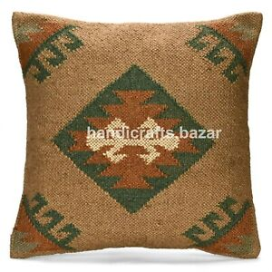 "Ethnic Back Rest Sofa Sham Decor 18"" Indian Vintage Handmade Cushion Pillow Case"
