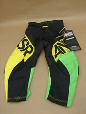 NWT Answer ANSR A14 Youth 16 Syncron Motocross MX Motorcycle Pants Green Yellow