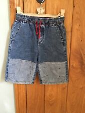 Cyrillus Designer Boy's Denim Shorts  Age 6 Years 114 cm Elasticated Waist FAB