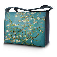 "17.3"" 17"" Laptop Notebook Padded Compartment Messenger Bag Almond Trees 17N31"