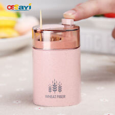 Wheat Straw Automatic Toothpick Holder Container Toothpick Dispenser Storage Box