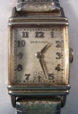 1949 Mens HAMILTON 982 19 Jewel 14K GOLD Fill Wristwatch w/ Speidel Band