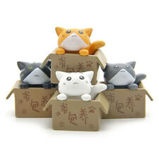 4PCs/set Cheese Cat Toys Animals Anime Action Figure Collection Decoration Toy