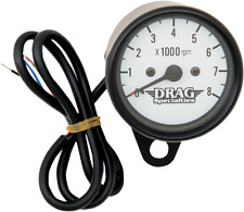 """Drag Specialties 8000 rpm Black Matte  2.4"""" Electronic Tachometer Tach Harley"""