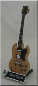FRANK ZAPPA Miniature Guitar Gibson SG w/ Guitar Pick