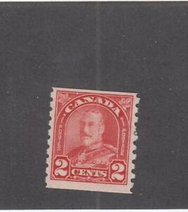 CANADA (MK253) # 181 VF-MH  2cts KGV ARCH/LEAF COIL / DEEP RED CAT VALUE $35