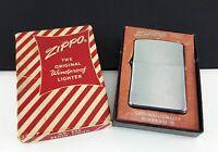 Vintage ZIPPO 1958 No. 200 Brush Finish Flip Top Lighter Unused in Box