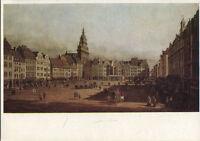 Alte Kunstpostkarte - Canaletto - Der Altmarkt zu Dresden