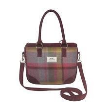 Earth Squared - Saskia Bag - Shoulder/Handbag - Tweed Wool - Thistle - 25x30x6cm