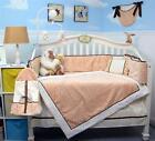 Peach Mini Roses Minky Chenille Baby Crib Bedding 13 pcs Set included Diaper Bag