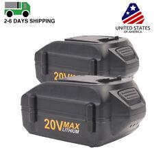 2x 4.0Ah WA3525 20V Lithium-Ion Battery for WORX WA3520 WG151 WG155 WG540 WG890