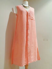 EAST PURE LINEN CORAL PINK LONG  TUNIC  TOP SZ UK 10