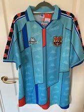 More details for 1996 barcelona retro away football shirt ronaldo 9 size xxl