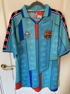 1996 Barcelona Retro Away Football Shirt Ronaldo 9 Size XXL