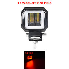3in 20W LED Work Light Offroad Red Angel Eye Halo Pod Lamp Driving ATV SUV Truck