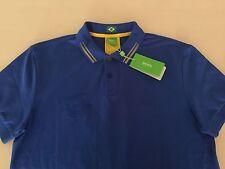 HUGO BOSS GREEN MEN'S SHIRT,PAULE FLAG BRAZIL ,100% AUTHENTIC, SZ-L , NEW