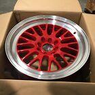 XXR 531 Wheel 16 16x8 +20 RED Machine Deep Lip Rim 4x114.3 4x4.5 4x100 Mesh