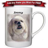 Lhasa Apso  - Fine Bone China Mug + Personalized with any name added free