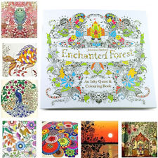 WS AU Kids Enchanted Forest English Version An Inky Treasure Hunt Drawing Book