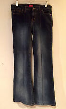 MOSSIMO DK BLUE JEANS NWOT Slimming Front SeamFading Stretch Boot Cut Sz 11