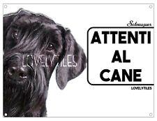 SCHNAUZER CARTELLO TARGA ATTENTI AL CANE PVC DOG