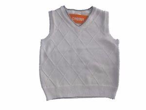 NWT Boy's Gymboree Tea & Cake Party ivory gray sweater vest ~ 4 5 6 FREE SHIP!