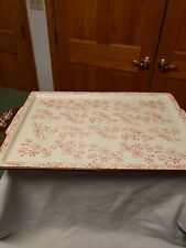 New listing Temptations Floral Lace Red 13x9 Ceramic Lid / Serving tray. Used