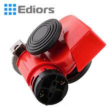 Motorcycle Car 12V Siren Air Loud Dual Tone Compact Snail Electric Pump Horn red