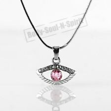 Collar ROSA del ojo malvado cristal Amuleto Colgante Kabbalah Joyería Judaica