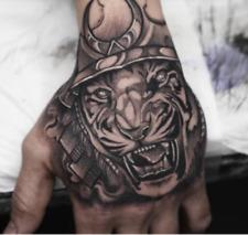 Temporary Tattoo Men King Tiger Temporary Tattoos Boys Waterproof Hand Tattoo