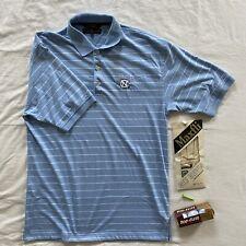 Vintage Tommy Hilfiger UNC Tar Heels Golf Polo Shirt Size Large Blue Striped