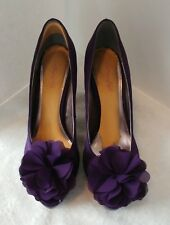 Unlisted Heels Pumps Purple Size 9 1/2 M  Open Toe A Kenneth Cole Production