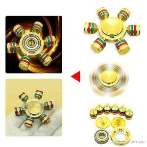 Rainbow Alumium Fidget Hand Spiner Finger Gyro Pocket Toys EDC Anti Stress Toys