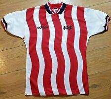 Vintage Adidas original USA United States America soccer football shirt size M
