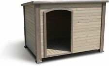 Pet Weather-Resistant Log Cabin Dog House with Adjustable