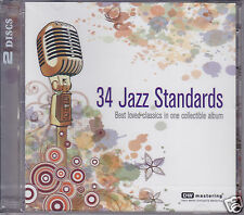 """34 Jazz Standards"" EQ Music DW Mastering 24bit/96KHz Audiophile 2-CD New Sealed"