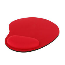 Red Mouse Pad Gel Wrist Rest Support Mat slip resistant for PC Laptop Table Desk