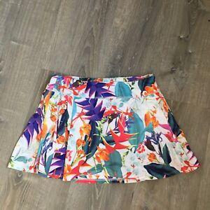 Athleta Womens Floral Tennis Golf Skirt Skort Size L