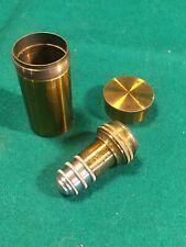 "Vintage No 7a Microscope Objective Lens 1/8"" C.Reichert In Original Brass Case"