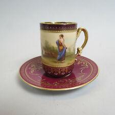 Royal Vienna Beehive Porcelain Demitasse Cup & Saucer