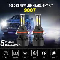 9007 HB5 Cree 4Sides LED Headlight Kit Bulbs High Low Xenon 6000K White Fog Lamp